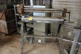 Pexto 3-Roll Manual Sheet Metal Roller on Stand