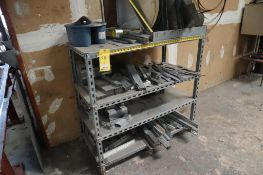 Storage Shelf with Assorted Metal Materials