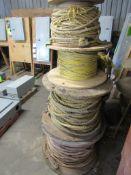 Lot of 4: Spools of Rope, assorted Diameters