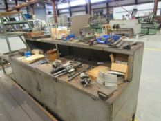 Lot: CNC Tooling for MAX-8 on Operator Table and Side Stand