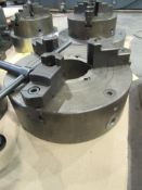 """12"""" 3-Jaw Chuck with 4"""" Thru-Hole, IS Steel, S/N 381030"""
