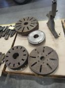 Lot: (4) Adapter Plates and (1) Follow-Rest
