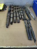 Lot: High Speed Drills assorted sizes; 39/64 to 1-7/16