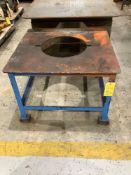 Lot of 2: Metal Tables with Circular Cut Out