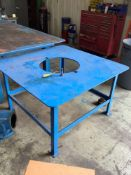 Heavy Duty Metal Table with Circular Cut-Out