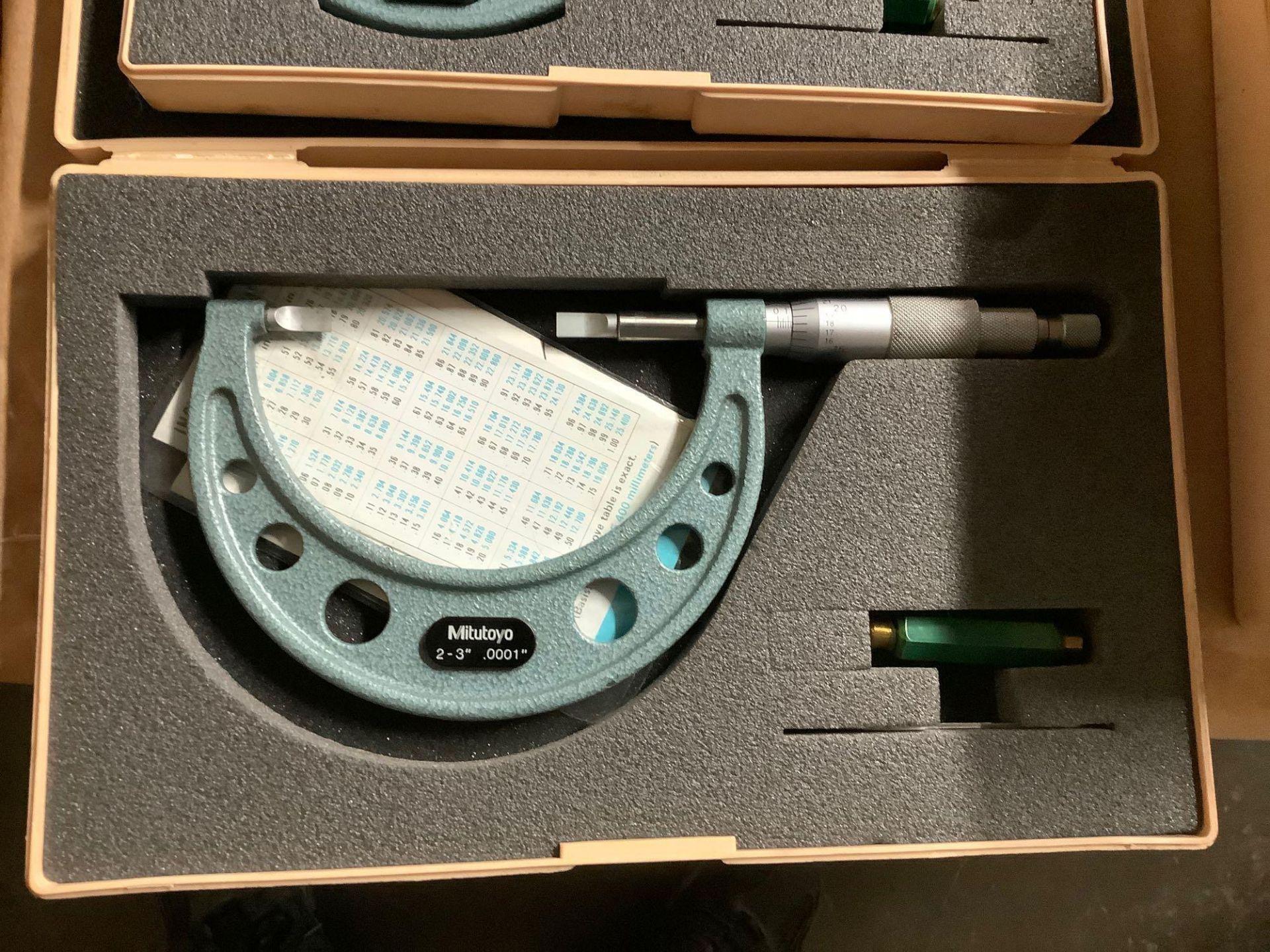 Lot of 3 Mitutoyo Blade Micrometers - Image 2 of 5