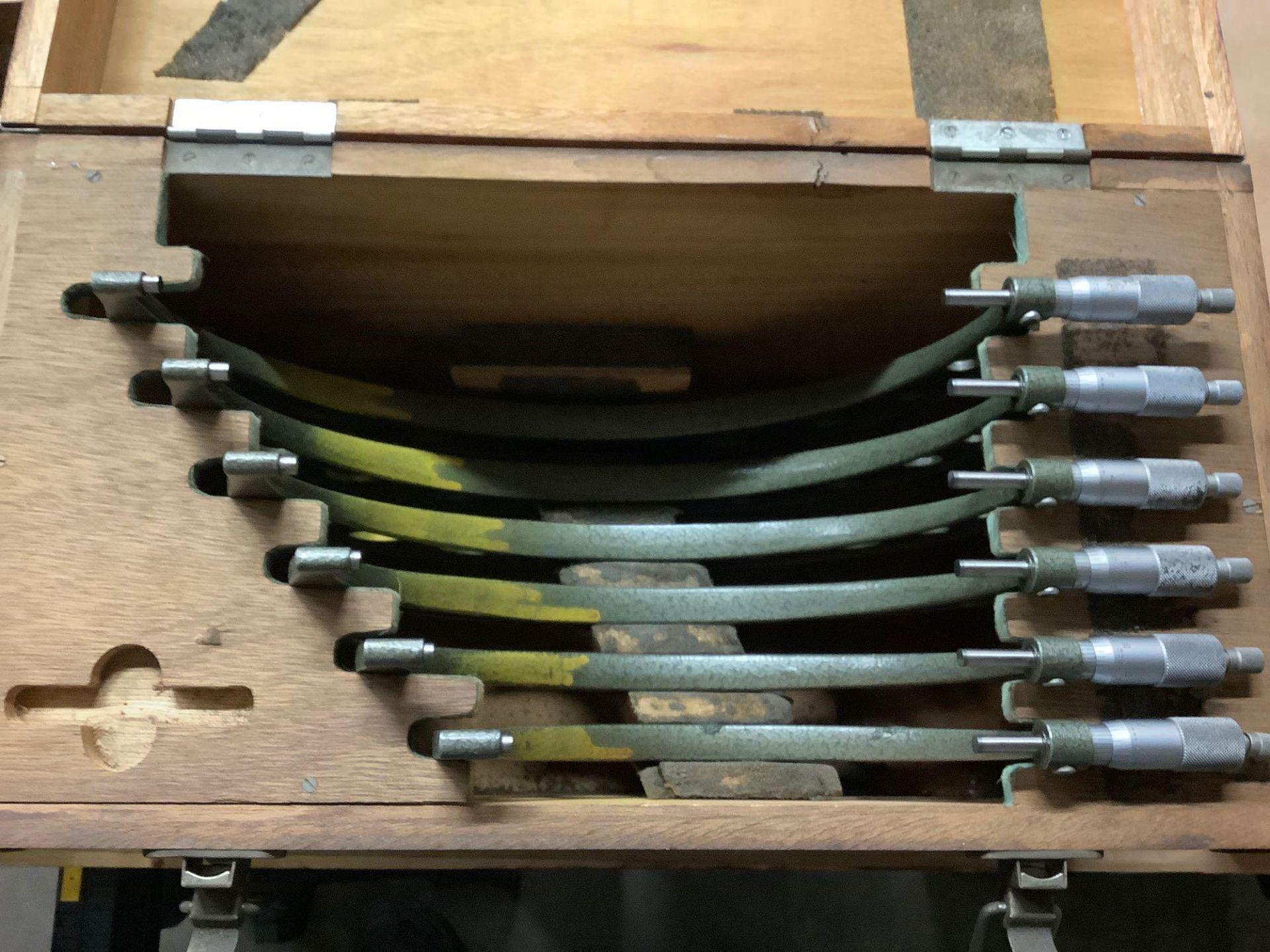 """Mitutoyo OD Micrometer Set, 6-7"""" thru 11-12"""" - Image 2 of 4"""