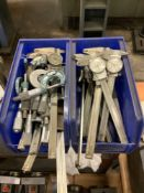 Lot of Caliphers, Micrometers, and Gauges
