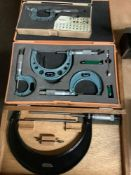 Lot of 3 Micrometers - Assorted Brands and Sizes