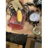 Lot of 2: Dayton 500 lb Hoist, (1) Sherline Scale Max 2000 lb