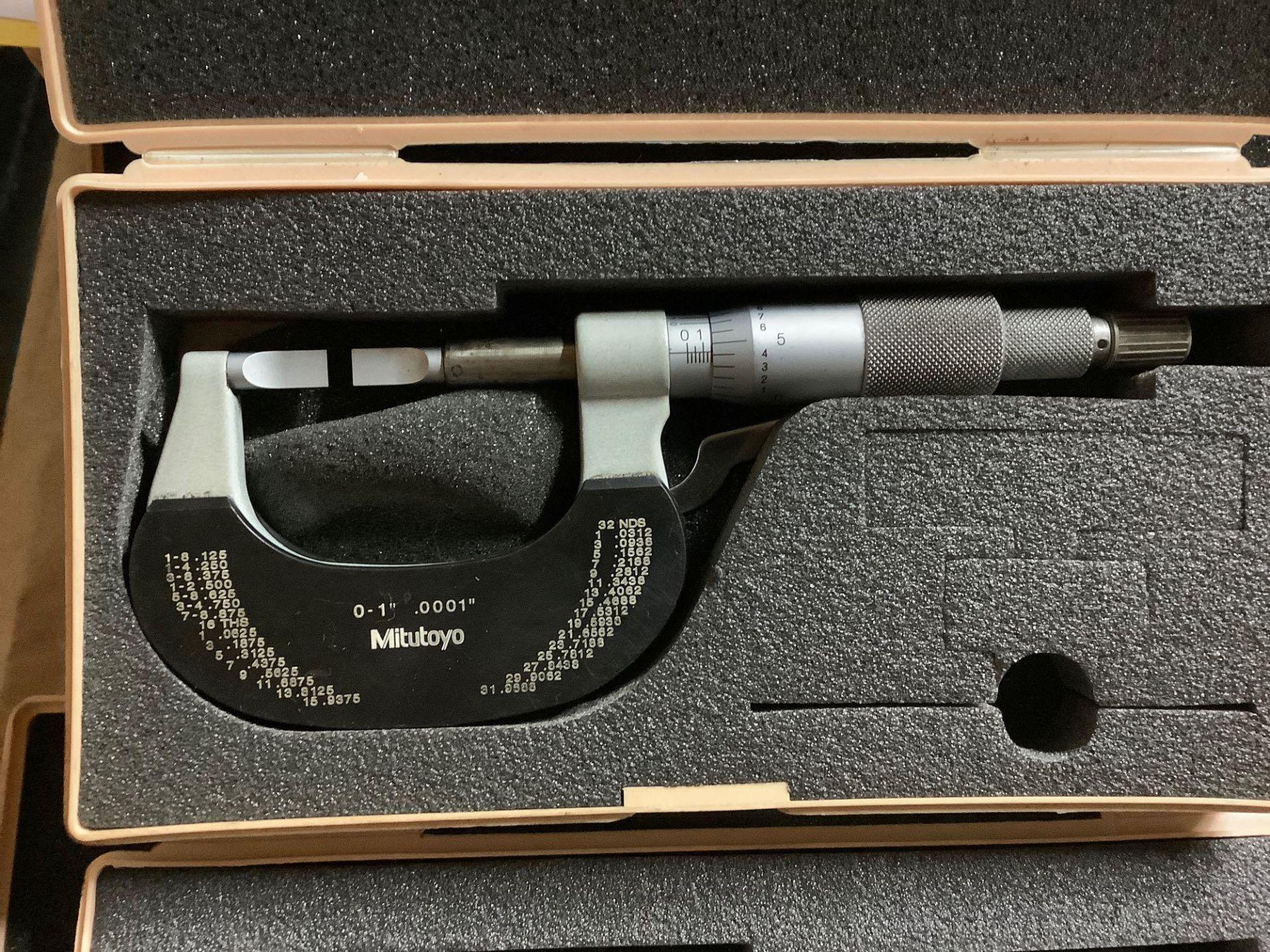 Lot of 3 Mitutoyo Blade Micrometers - Image 4 of 5