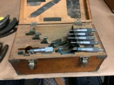 "Mitutoyo OD Micrometer Set: 0-1"" thru 5-6"""