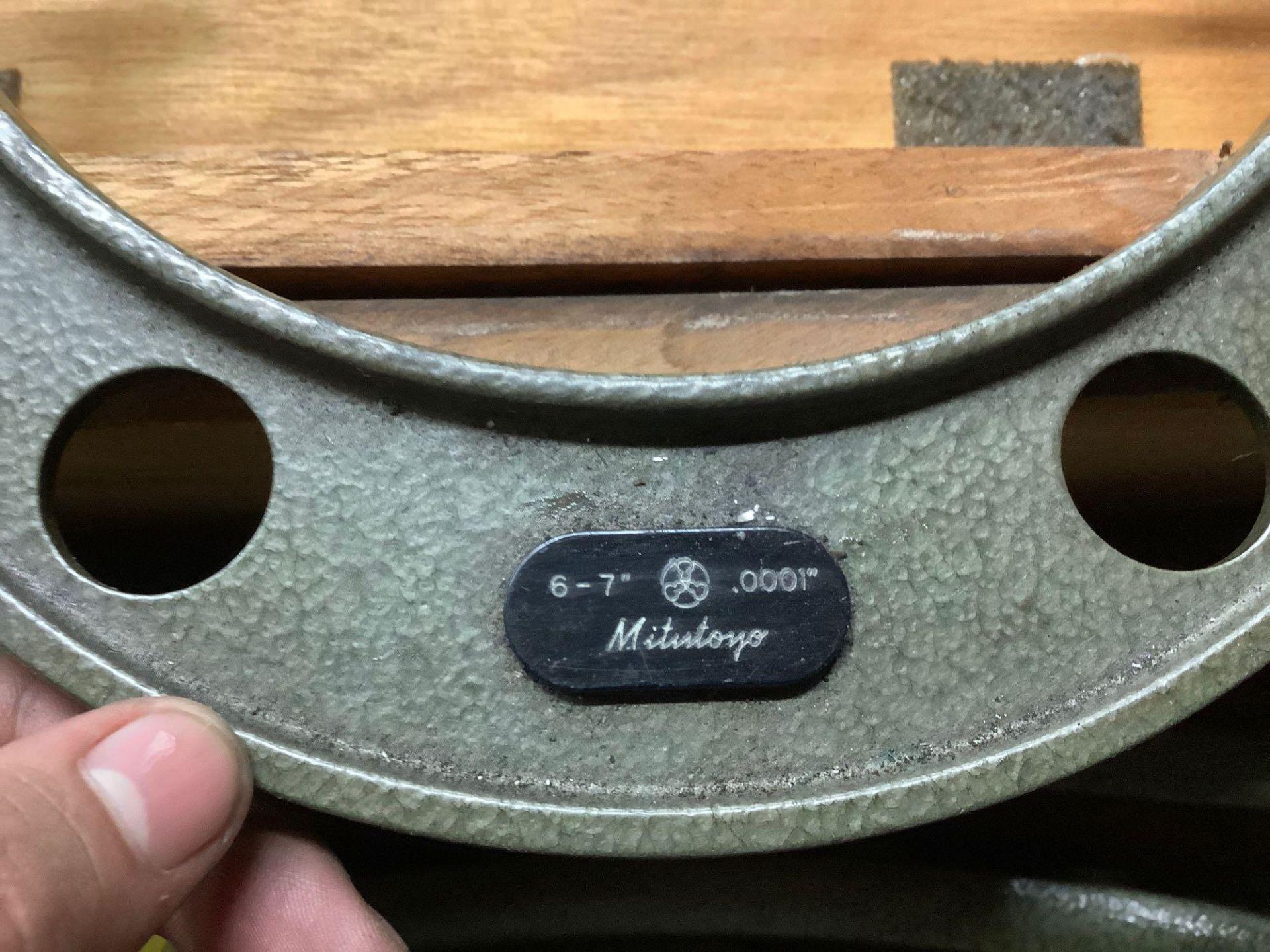 """Mitutoyo OD Micrometer Set, 6-7"""" thru 11-12"""" - Image 4 of 4"""