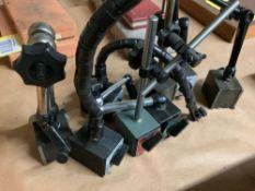 Lot of 8 Magnetic Indicator Base