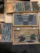 Lot of 5 Mitutoyo Interchangeable Anvils, Assorted Sizes