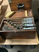 """Set of OD Micrometers, Mixed Brands 0-1"""" thru 5-6"""""""