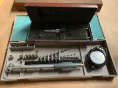 Lot of 2 Instruments: (1) Mitutoyo Bore Gauge, (1) Starrett Depth Gage