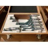 "Mitutoyo OD Micrometer Set; 0-1"" thru 5-6"""