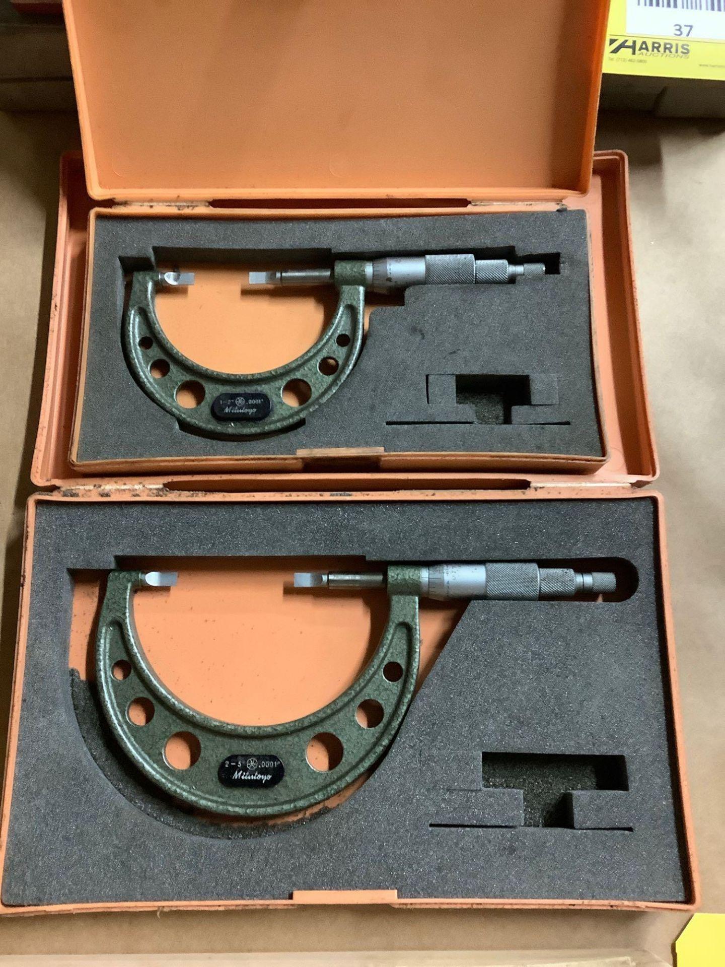 Lot of 2 Mitutoyo Blade Micrometers