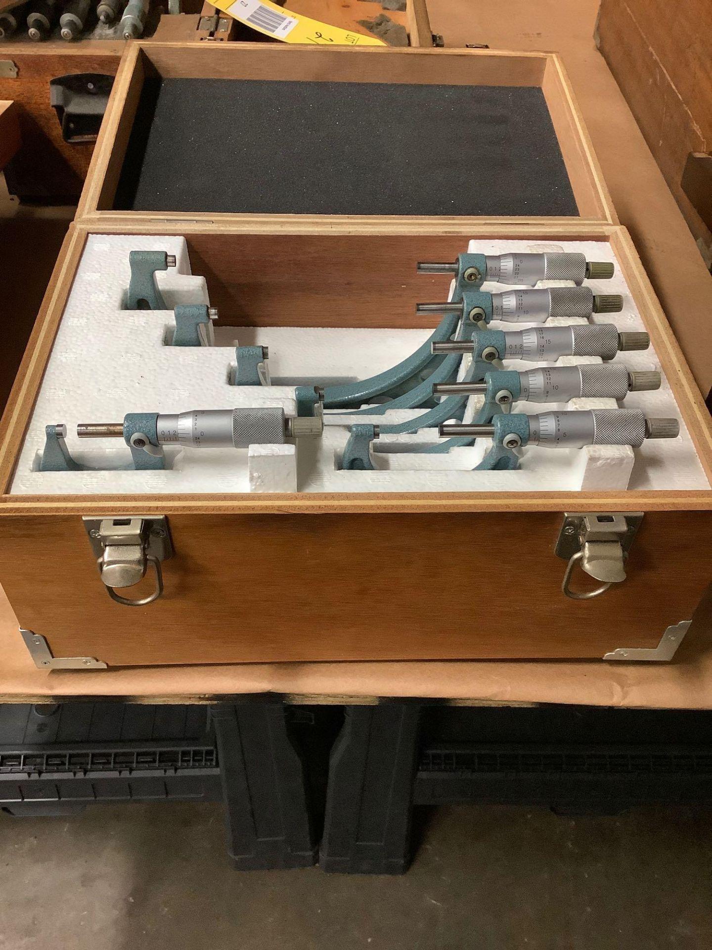 """Mitutoyo OD Micrometer Set; 0-1"""" thru 5-6"""" - Image 2 of 3"""