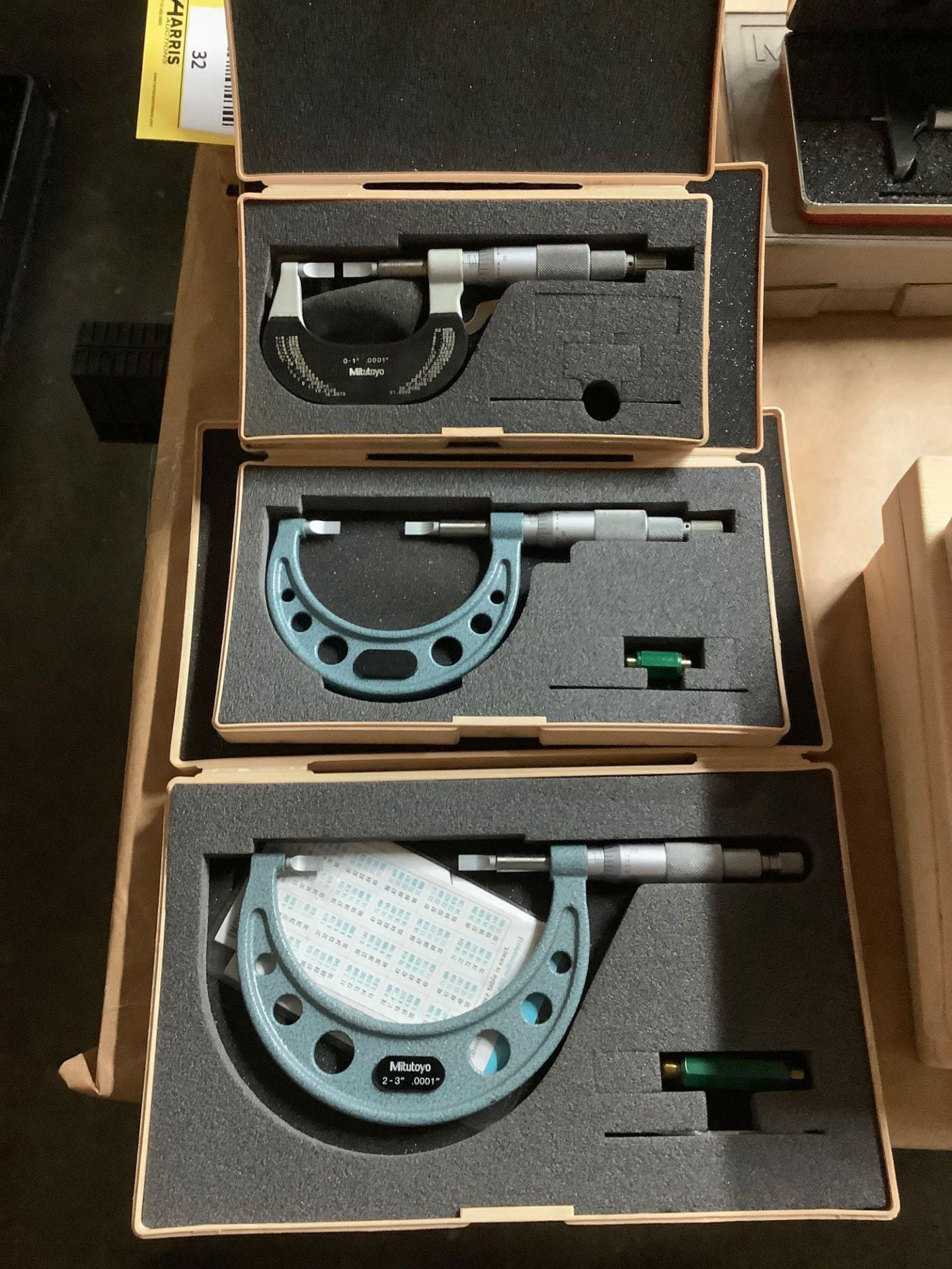 Lot of 3 Mitutoyo Blade Micrometers