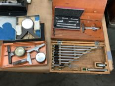 Lot of 7 Assorted Quality Control Items; Gauges and Micrometers