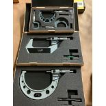 Lot of 3 Mitutoyo Micrometer Sets - Assorted sizes