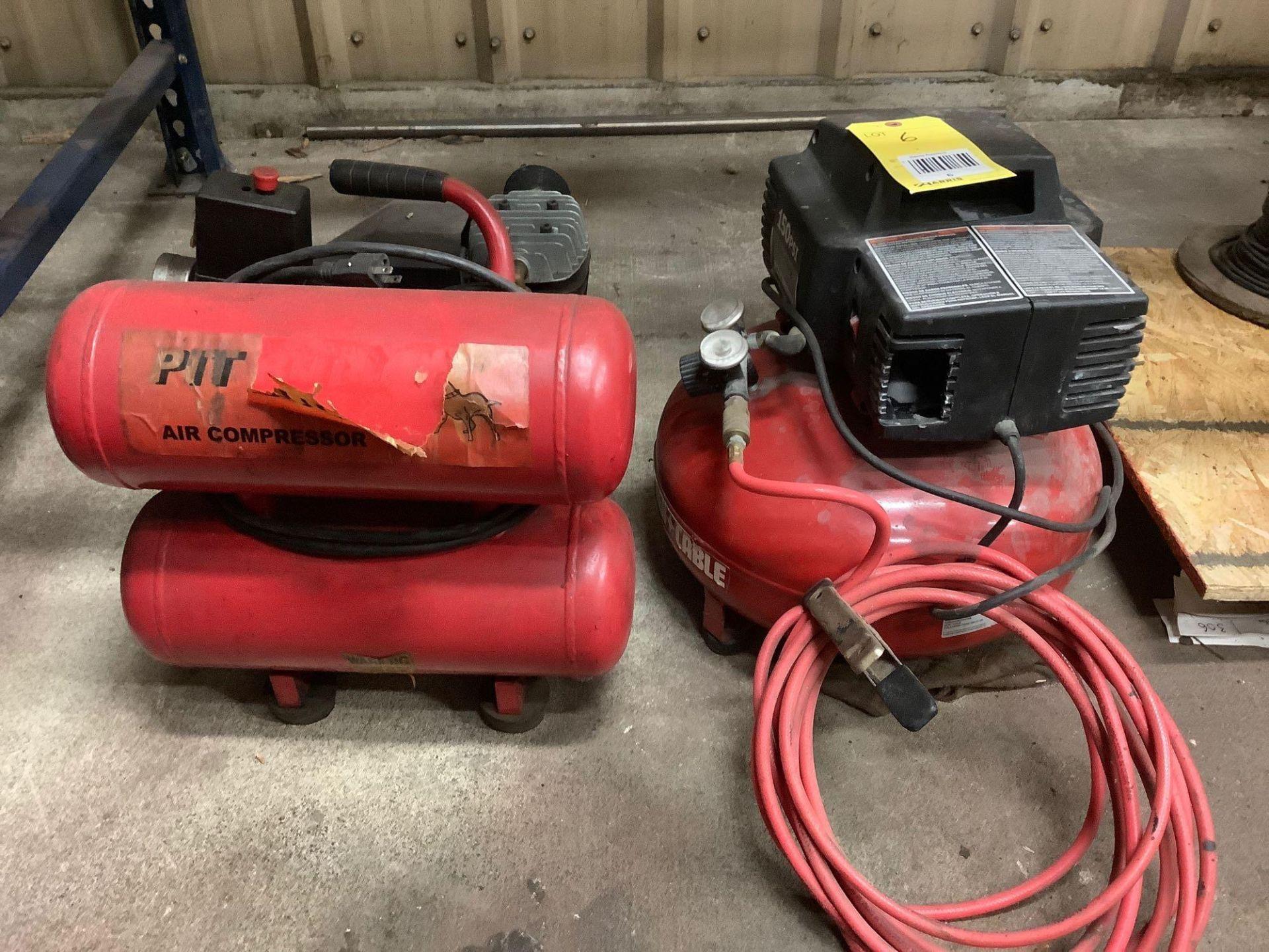 Lot of 2 Portable Air Compressors