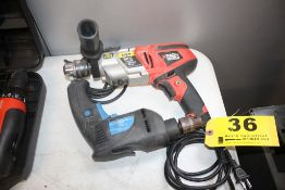 (2) ELECTRIC DRILLS, BLACK & DECKER HAMMER DRILL AND POWER GLIDE DRILL