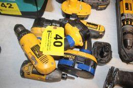 (2) DEWALT 18-VOLT DRILL DRIVERS & (1) DEWALT 12-VOLT DRILL DRIVER (NO CHARGERS)