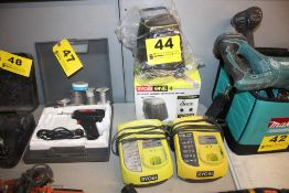 RYOBI 18-VOLT SCORE WIRELESS SPEAKER AND (2) CHARGERS