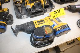 DEWALT 12-VOLT SAWZALL WITH (2) BATTERIES AND CHARGER