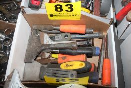 ASSORTED CHISELS AND SCRAPPERS