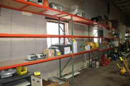 """(4) SECTIONS HEAVY DUTY ADJUSTABLE PALLET RACK, EACH SECTION 8'4"""" X 23"""" D X 8' H"""