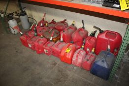 LARGE QTY OF GAS CANS