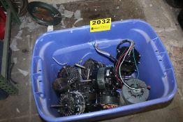ASSORTED MOTORS & COILS IN TUB