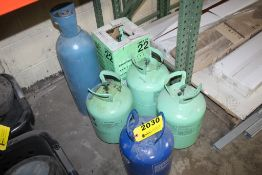 ASSORTED FREON TANKS, MOSTLY EMPTY