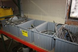 (5) BINS OF BRAIDED HOSE, APPEARS STAINLESS