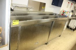 "ULTRASONIC CLEANING MACHINE -STAINLESS STEEL TWIN CHAMBER PORTABLE RINSE / WASH TANK, 100"" X 26"""