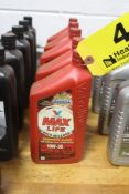 (5) QUARTS OF VALVOLINE SAE 10W-30 SYNTHETIC BLEND HIGH MILEAGE MOTOR OIL