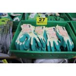 LARGE ASSORTMENT OF CLOTH-LATEX COATED GARDENING GLOVES