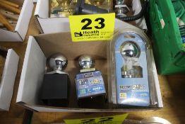 "(3) TRAILER HITCH BALLS, 1-7/8"", 2"" & 2-5/16"""
