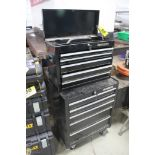 """HUSKY PORTABLE TOOLCHEST, 33"""" X 27"""" X 18"""" AND FIVE DRAWER TOOL BOX, 20"""" X 26"""" X 12"""""""