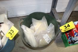 LARGE QUANTITY OF CABLE TIES IN BIN