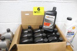(12) QUARTS OF ACCEL SAE 10 MOTOR OIL
