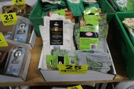 LARGE ASSORTMENT OF CANVAS GARDENING GLOVES