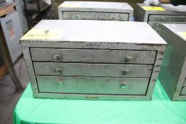 HUOT 3 DRAWER FRACTIONAL DRILL CABINET WITH DRILLS