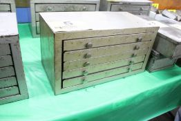 HUOT 5 DRAWER NUMBER DRILL CABINET (EMPTY)