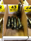 LOT 5 MILLING CUTTERS WITH R-8 SHANKS