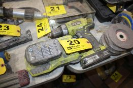 RYOBI 18 VOLT DRILL DRIVER WITH (2) BATTERIES & CHARGER